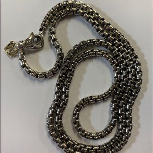 David yurman 3.6mm sterling & 14k chain 24 inches